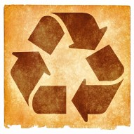Recycling Grunge Sign - Sepia