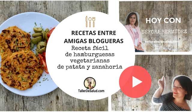 Video-Receta: Hamburguesas fáciles de patata y zanahoria [Receta de Séfora Bermúdez]