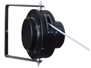 Enrollador FC de carcasa cerrada habitualmente para usos manuales o polipastos de recorridos con curvas.