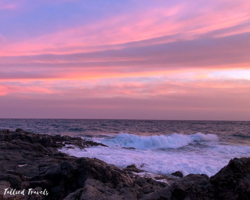 tenerife purple sunset