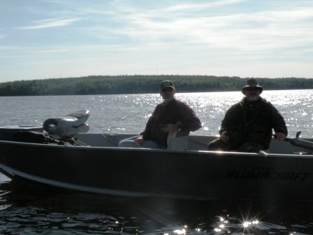 Good friends Frank and Bender got to fish together