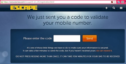 ESCnow: Validate your mobile number and e-mail