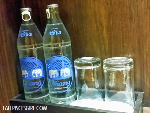 Complimentary Chang mineral water
