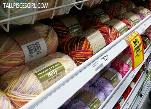 Knitting wool and tools - heaven for fellow knitters!