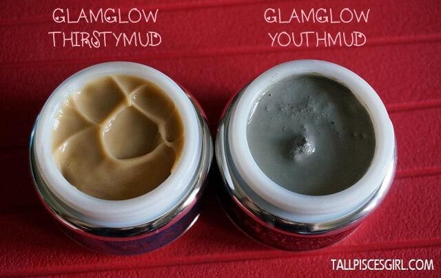 GLAMGLOW YouthMud vs. GLAMGLOW ThirstyMud texture