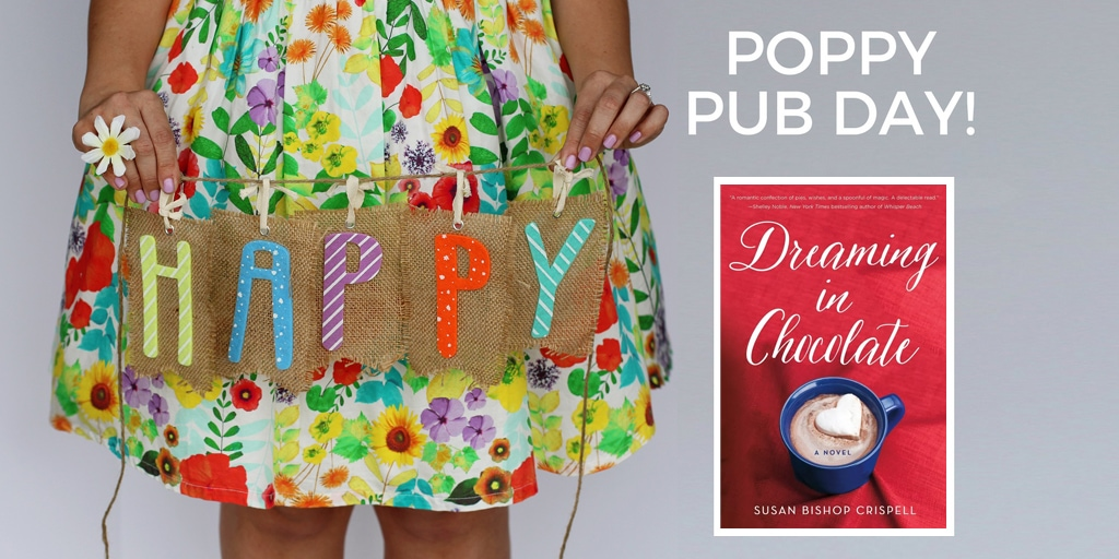 Happy Pub Day to Susan Bishop Crispell and Dreaming in Chocolate