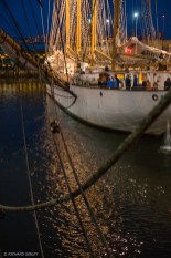 Locking out from Ijmuiden with the Portuguese, 4 masted Gaff Schooner, Santa Maria Manuela.