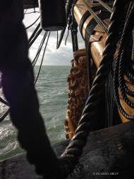 Riding out the stormy weather anchored off the North forelands