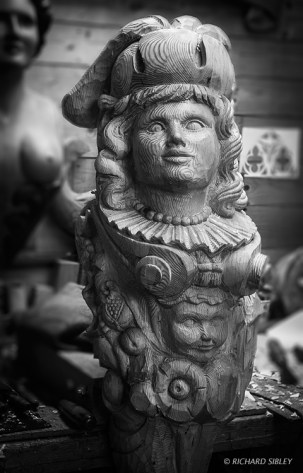 Fortuna,Figurehead,ships carver,andy peters,