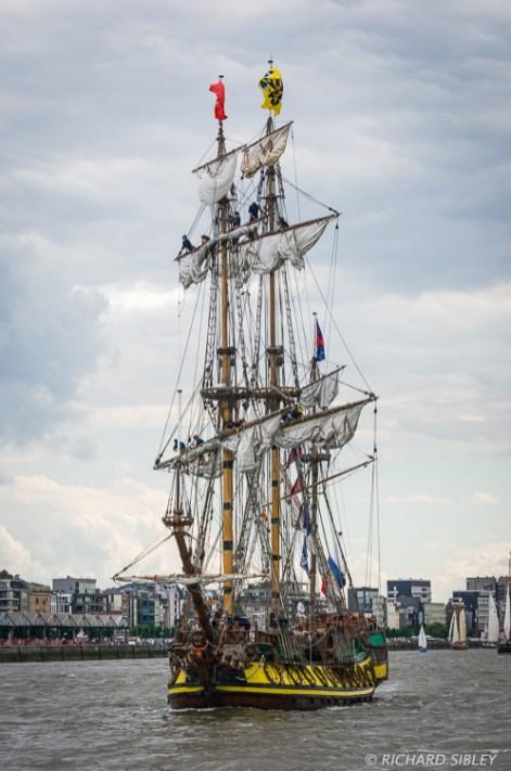 Russian Full Rigger Shtandart - Parade of Sail. Antwerp Tall Ships Race 2010