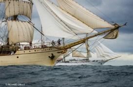 Dutch Barque 'Europa' and Polish Full Rigger 'Dar Mlodziezy'