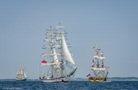 German Barque Alexander von Humboldt II, Polish Brig Fryderyk Chopin and Russian Frigate Shtandart