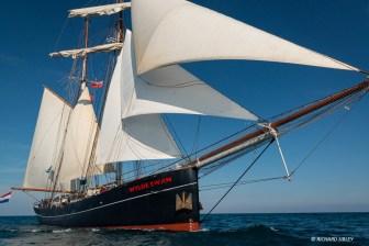 Dutch topsail schooner Wylde Swan underway RDV2017