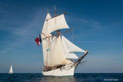 French topsail schooner Etoile. Race start RDV2017