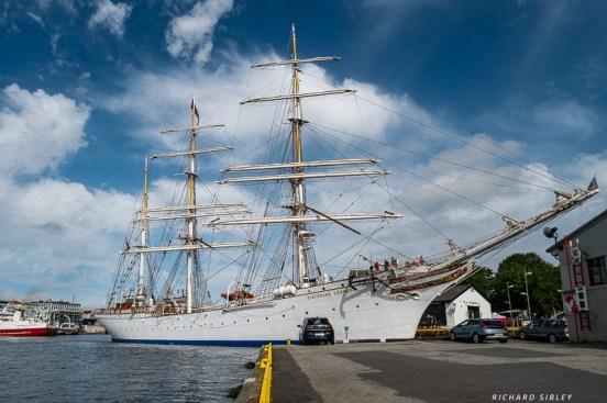 Statsraad Lehmkuhl, Port of Bergen