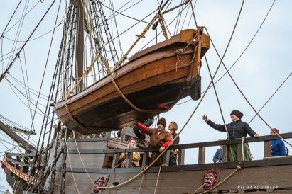 Launching the boats
