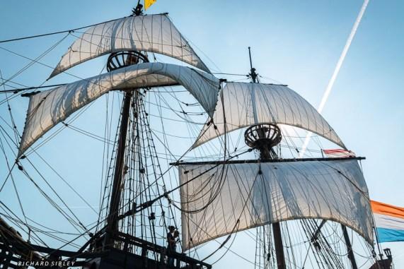 The ship underway