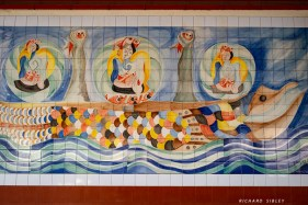 A mural on the wall of the market, Mindelo