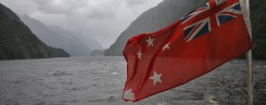 Doubtful Sound - tour boat flag