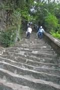 It was a very steep climb!