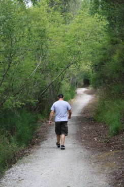 Taking in some of the trail alongside the Clutha Mata-Au River