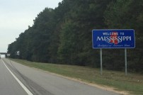 mississippi sign on interstate