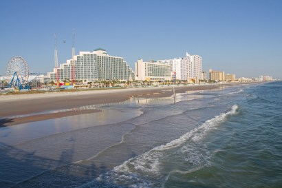 Daytona Beach from the pier