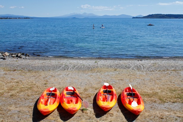 Kayaks at Lake Taupo
