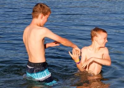 Fun in the lake