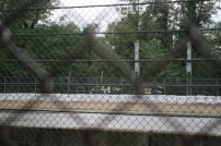 We could see some items attached to the fence... could we make it over there?