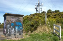 Radio mast thing at the top of Mt Albert, and one of a few graffiti'd concrete structures