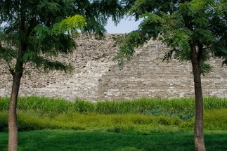 about 2 million bricks were used to restore the wall