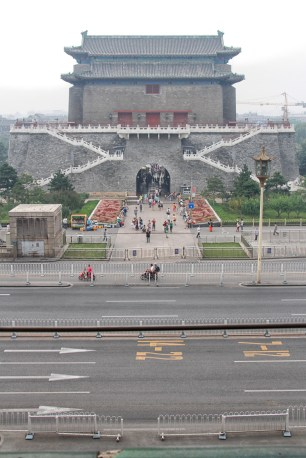 Looking from the gatehouse over to the watchtower, these days separated by Qianmen Street.