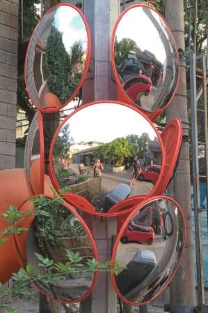 Beijing street mirrors
