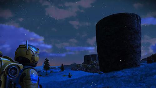 No Mans Sky world at night