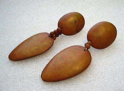 Vintage plastic butterscotch earrings - bakelite style