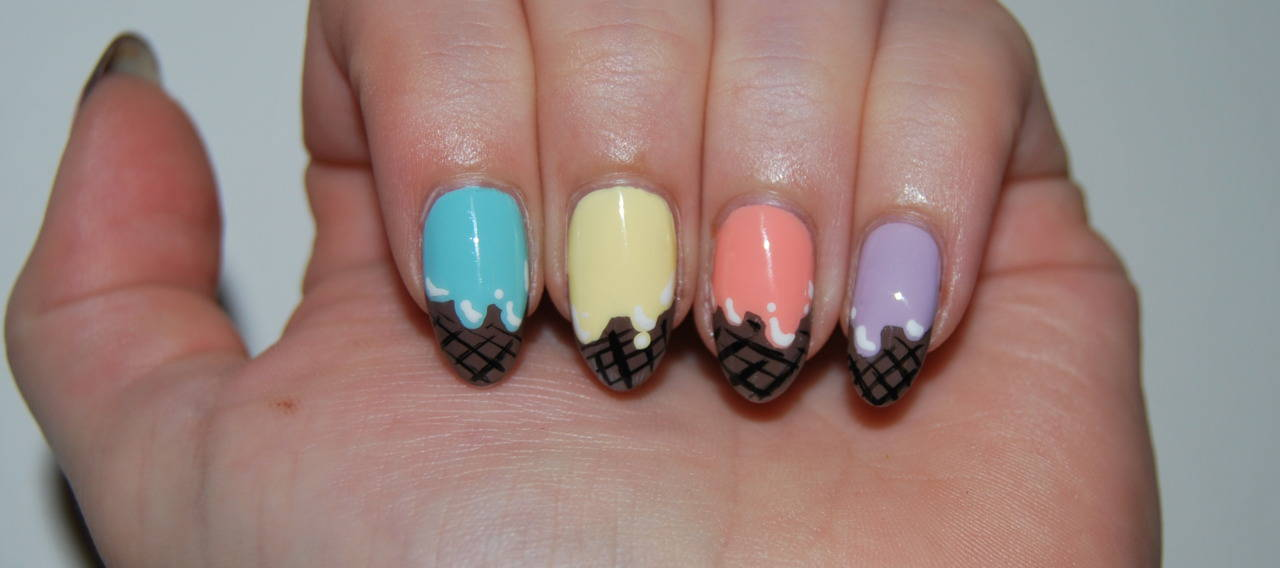 Ice Cream Nail Art