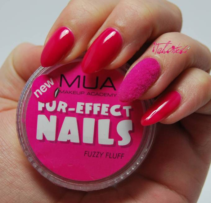 MUA Furry Nail Art With Flocking Powder