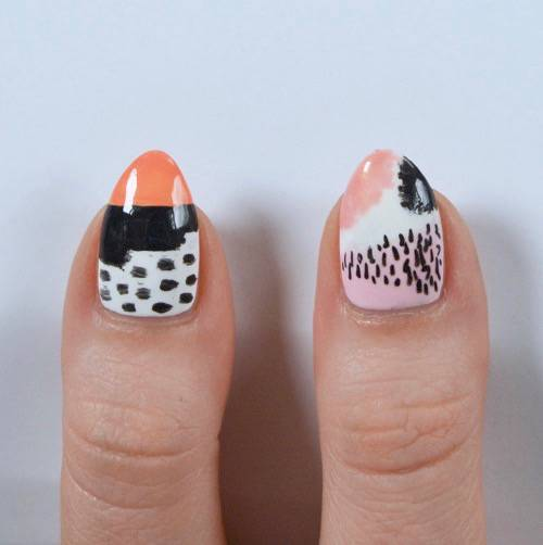 Abstract Nail Art Inspired By Ashley Goldberg