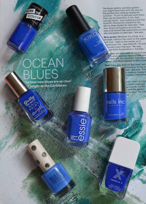 Cobalt Nail Varnish Comparison
