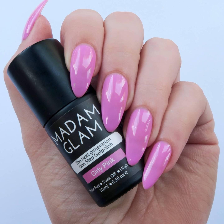Madam-Glam-One-Step-Gels-Girly-Pink-1