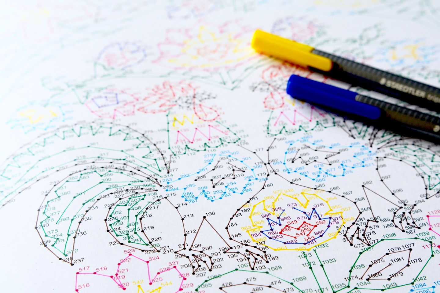 Friday Faves: an adult dot-to-dot is my current favourite way to relax. So much fun!