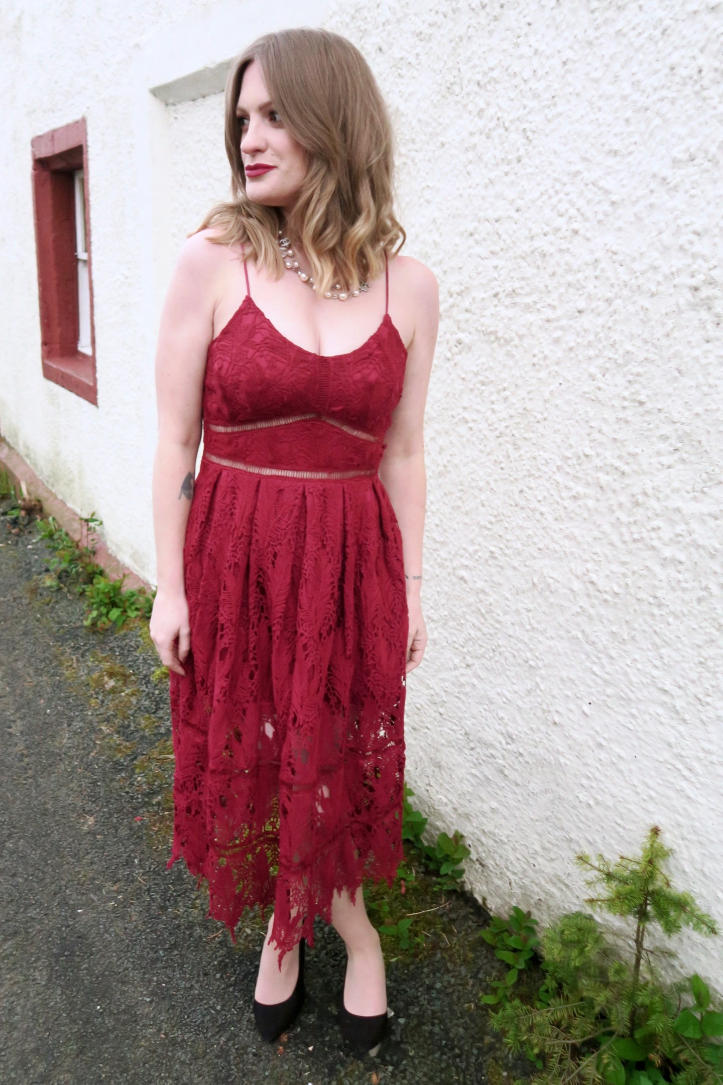 Spring wedding guest outfit inspiration: red lace, black leather, and leopard print...
