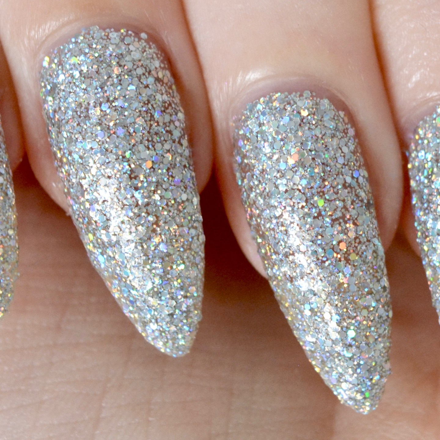 Floss Gloss Glitters - Dimepiece, a silver holographic glitter in a clear base