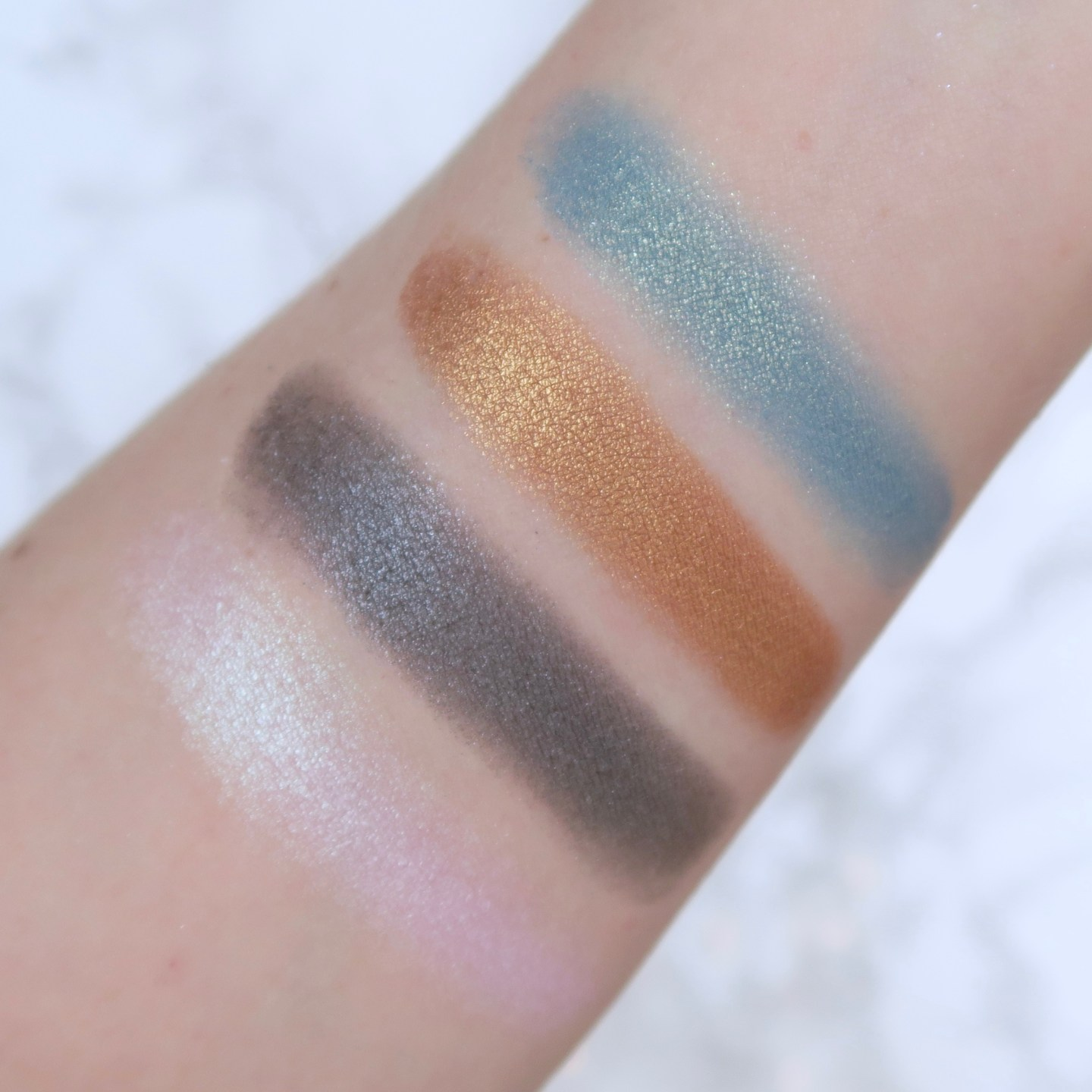 NYX In Your Element 'Metals' palette swatches