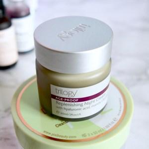 Trilogy Replenishing Night Cream (Skincare Shake Up - full skincare routine for rosacea, sensitive skin)