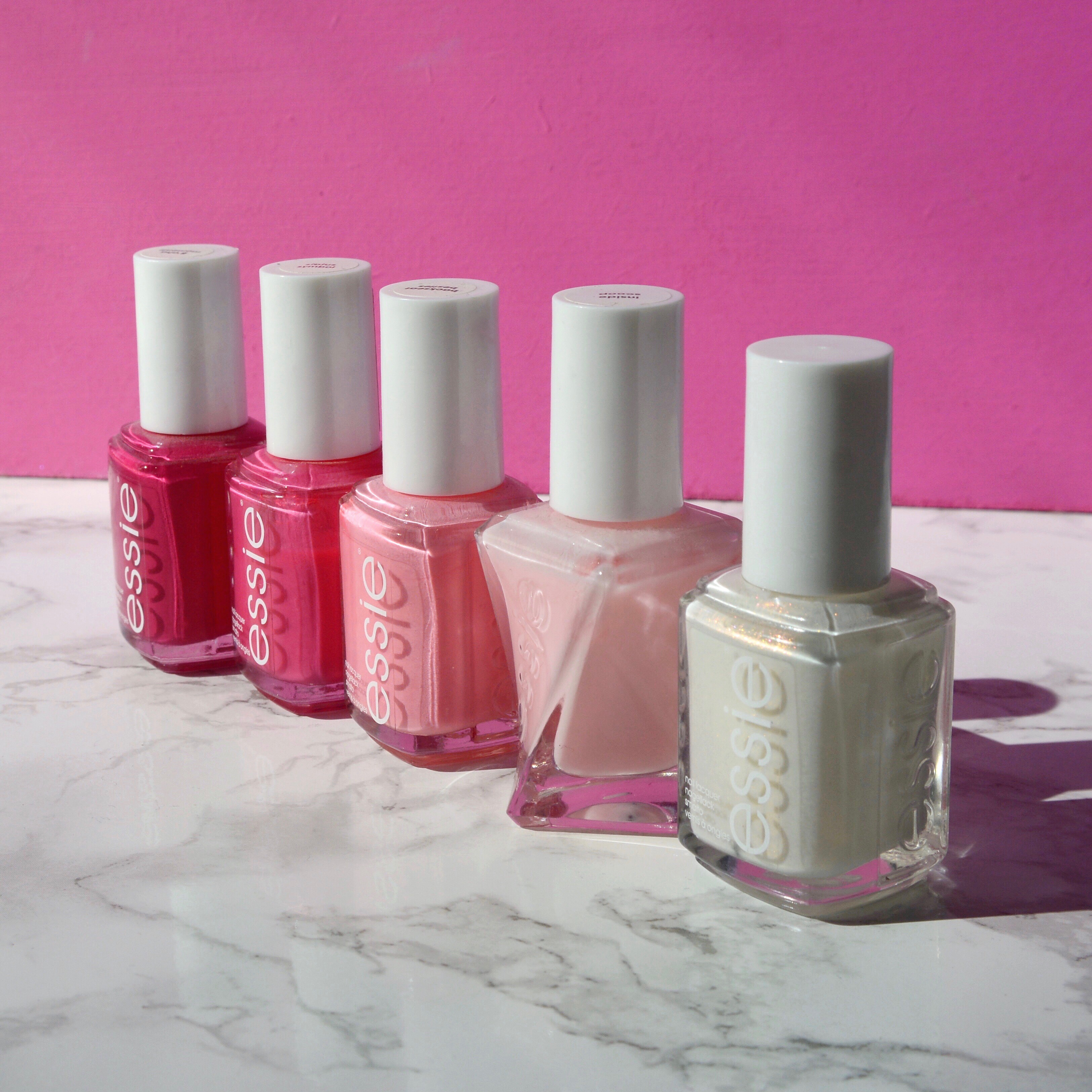 Pink essie polishes - Talonted Lex