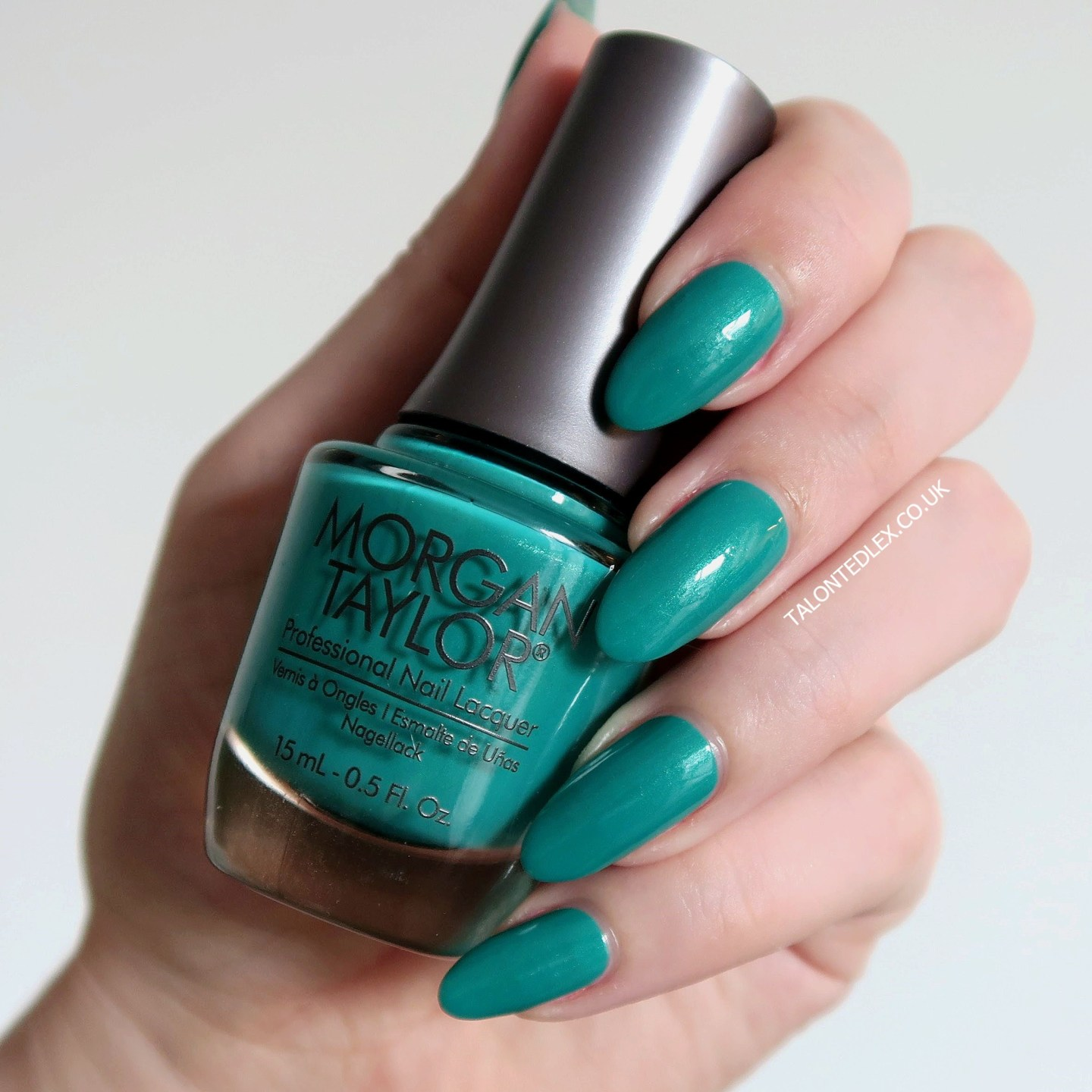Repin and click to see the full Morgan Taylor Rocketman collection, including 'Sir Teal To You' - a green creme polish. New Morgan Taylor nail polish range. #talontedlex #morgantaylor #greennails