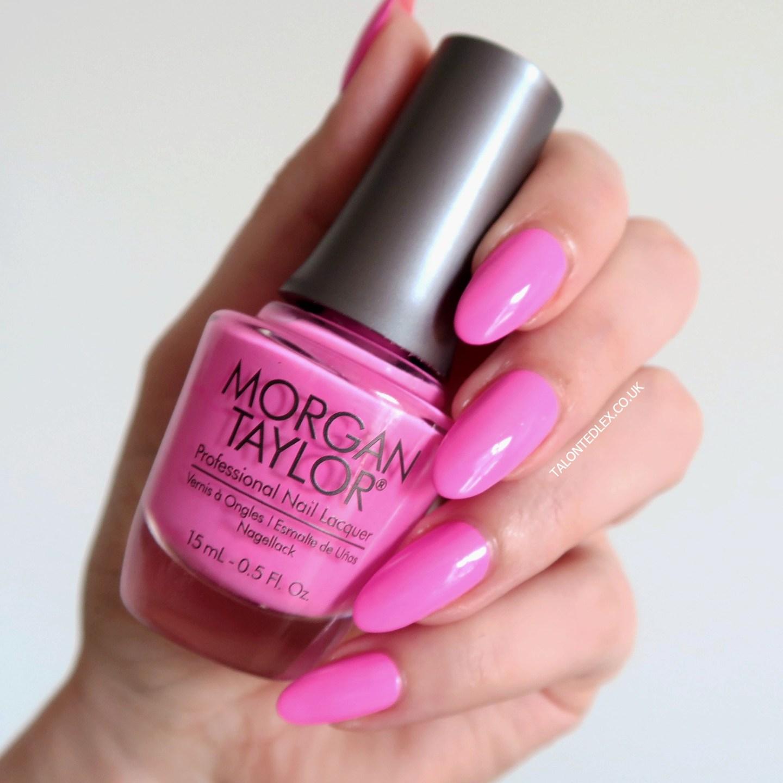 Repin and click to see the full Morgan Taylor Rocketman collection, including 'Tickle My Keys' - a pastel pink creme polish. New Morgan Taylor nail polish range. #talontedlex #morgantaylor #pinknails