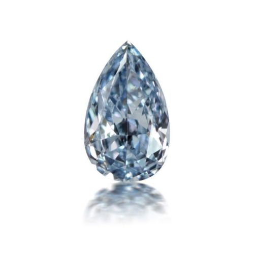 Blue Diamond - 0.24ct Natural Loose Fancy Blue Color Diamond GIA Pear Shape